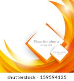 abstract orange brochure | Shutterstock .eps vector #159594125