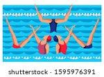 Woman Athlete On Synchronized...