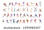 sport people set. collection of ... | Shutterstock .eps vector #1595985457
