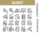 audit finance report collection ...   Shutterstock .eps vector #1595989267