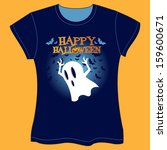 halloween ghost vector... | Shutterstock .eps vector #159600671