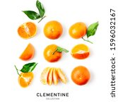 Fresh Clementine With Leaves...