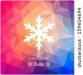 Vector Snowflake. Abstract...