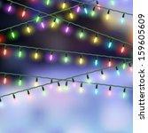 christmas lights. vector eps10 | Shutterstock .eps vector #159605609