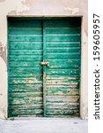 Old Rustic Wooden Doors Painted ...