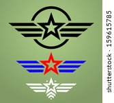abstract military star emblem... | Shutterstock .eps vector #159615785