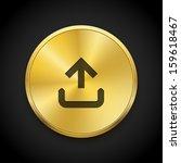 vector golden upload icon  ...