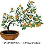 vietnam tree holiday special...   Shutterstock .eps vector #1596219331