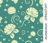 flower vector repeat pattern... | Shutterstock .eps vector #1596227197