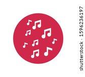vector icon melody 10 eps .... | Shutterstock .eps vector #1596236197