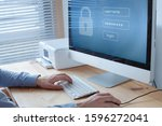 login and password to access secured data online on computer, privacy and information protection concept - stock photo