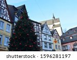 Christmas Decorated Cochem Old...