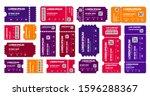 ticket templates mockup ...   Shutterstock .eps vector #1596288367