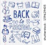vector background with... | Shutterstock .eps vector #159629405