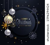 beautiful glam christmas card... | Shutterstock .eps vector #1596294424