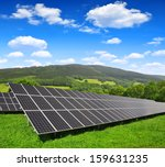 solar energy panels in spring... | Shutterstock . vector #159631235