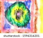 indian ikat. ink grunge pattern.... | Shutterstock . vector #1596316201