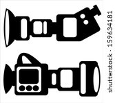 film camera icons isolated on... | Shutterstock .eps vector #159634181