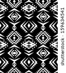 seamless black and white aztec... | Shutterstock .eps vector #159634541