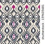seamless ethnic  vector print... | Shutterstock .eps vector #159635681