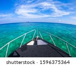prow of speedboat on the sea,island