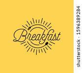 breakfast restaurant with...   Shutterstock .eps vector #1596389284