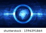 vector digital global... | Shutterstock .eps vector #1596391864