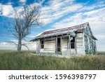 Ruins of an abandoned homestead on the Pawnee National Grasslands in Northeastern Colorado.
