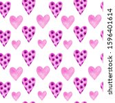 seamless pattern with pink and... | Shutterstock . vector #1596401614