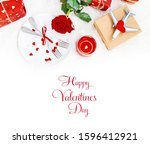 valentine's day. a beautiful... | Shutterstock . vector #1596412921