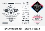 hipster design elements | Shutterstock .eps vector #159644015