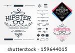 Hipster design elements | Shutterstock vector #159644015