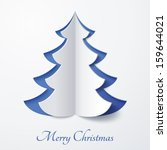 vector white paper christmas...