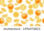 orange fruits whole  half ... | Shutterstock . vector #1596476821