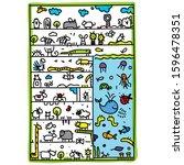 hand drawn illustrations of... | Shutterstock .eps vector #1596478351