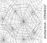 spider web seamless pattern | Shutterstock .eps vector #159648167
