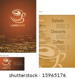 template designs of menu and... | Shutterstock .eps vector #15965176