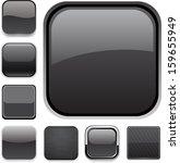 set of blank black square... | Shutterstock .eps vector #159655949