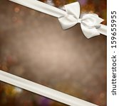 gift white ribbon with bow over ... | Shutterstock .eps vector #159655955