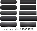 set of blank black buttons for... | Shutterstock .eps vector #159655991