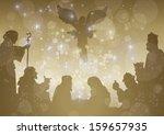 starry bethlehem complete - stock vector