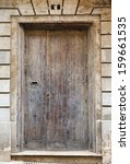 Old Wooden Front Door To The...