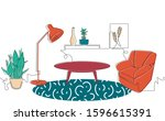 interior of the living room.... | Shutterstock .eps vector #1596615391