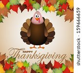 happy thanksgiving cartoon... | Shutterstock .eps vector #159666659