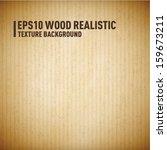 wood   cardboard realistic... | Shutterstock .eps vector #159673211