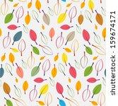 autumn retro leaves seamless... | Shutterstock .eps vector #159674171