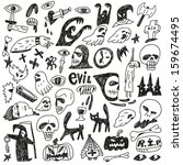 halloween   evil   monsters  ... | Shutterstock .eps vector #159674495