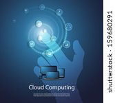 cloud computing concept | Shutterstock .eps vector #159680291