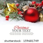 christmas background with a red ... | Shutterstock . vector #159681749