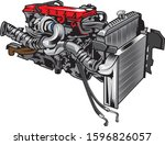 diesel engine with the truck...